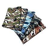 Baosity Kit de Telas de Algodón Camuflaje Costura Manualidades Parches de Tela Forro de Bricolaje - 5 Colores Set 1, Individual