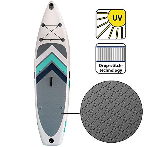 ALPIDEX Stand Up Paddle Gonfiabile 305 x 76 x 15 cm ISUP Portata Massima 110 kg Tavola SUP Leggero Stabile Set Completo, Colore:Bianco