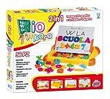 Grandi Giochi GG75000, Lavagna Magnetica 2 in 1 a Valigetta, Multicolore