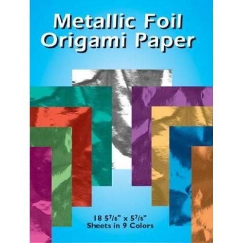"METALLIC FOIL ORIGAMI PAPER ~ 18 5 7//8/"" x 5 7//8/"" SHEETS IN 9 COLORS"