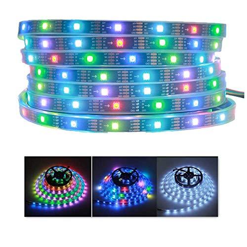 XHCP Luce , Colore , Decorazione WS2815 Pixel Striscia Principale, 16.4ft 150 LED 5050 SMD Alta luminosità Chip indirizzabile Individualmente LED Striscia Flessibile Luce 12V DC Impermeabile