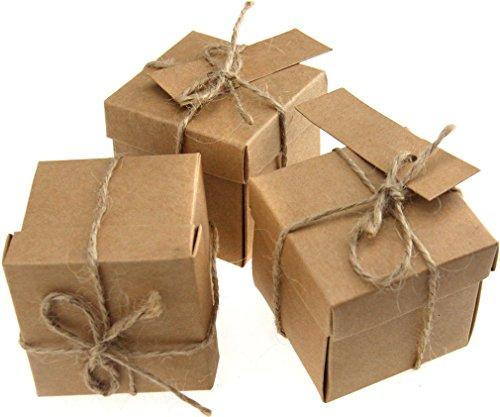 20cajas de papel kraft, natural, de cartón