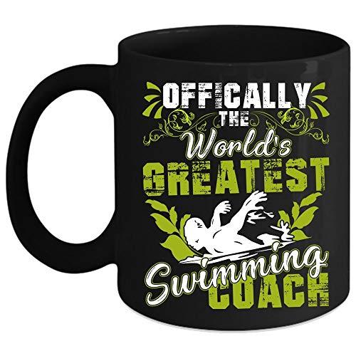 N\A Taza de café de Entrenador de natación más Grande del Mundo, Linda Taza de café de Entrenador de natación (Taza de café - Negro)
