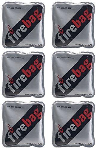 firebag Wärmebeutel: 6er-Set Taschenwärmer warme Hände, wiederverwendbar (Heizkissen)