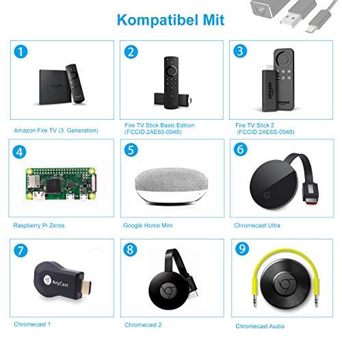 LANMU Ethernet Adapter, Micro USB auf RJ45 LAN Adapter Netzwerkkarte für Chromecast 1/2,Netzwerkadapter Konverter für Chromecast Ultra,Chromecast Audio und mehr