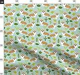 Corgi, Corgis, Babyhosen, Mint, Hund, Kaktus, Juli 2016 Kaktus Stoffe - Individuell Bedruckt von Spoonflower - Design von Petfriendly Gedruckt auf Öko Canvas