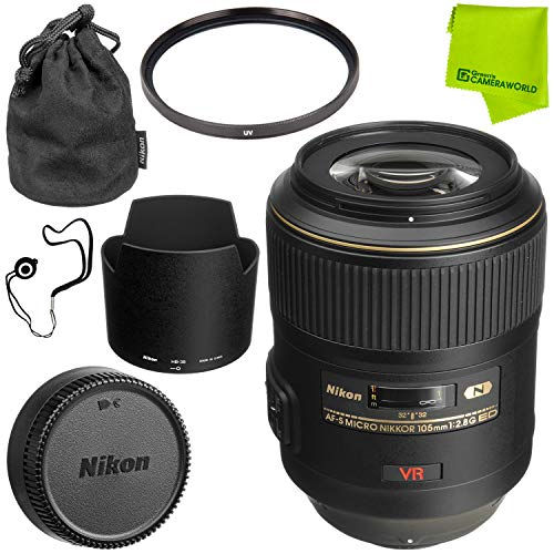 Nikon AF-S VR Micro-NIKKOR 105mm f/2.8G IF-ED Lens Base Bundle