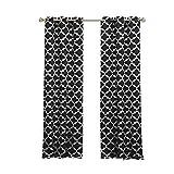 Duck River Geometric Blackout Curtain, 38x84 (2 Pieces), Black