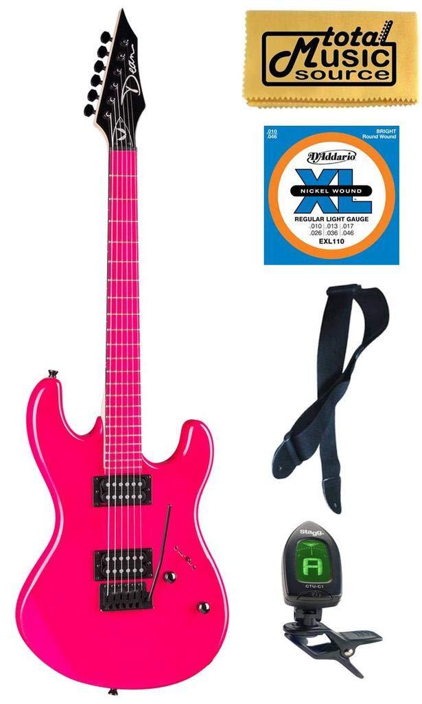 Cheap Dean Custom Zone Electric Guitar 2 Humbuckers Florescent Pink CZONE FLP Bundle Black Friday & Cyber Monday 2019