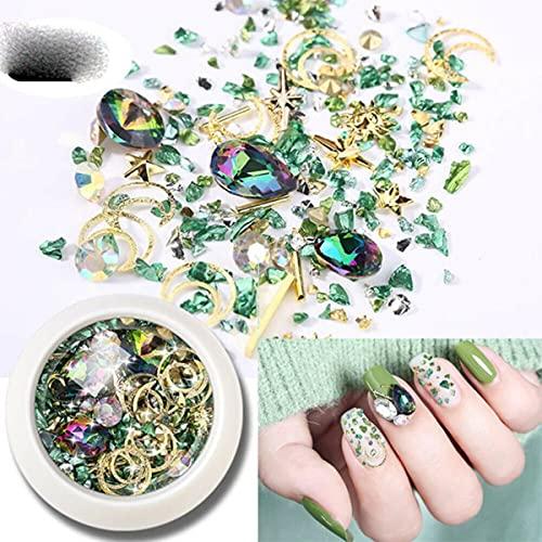 1 caja conjunto mixto de diamantes de imitación de uñas 3D remaches de cuentas de metal tachuelas de tamaño mixto accesorios de decoración de uñas DIY pegatinas de arte de uñas-China, 04
