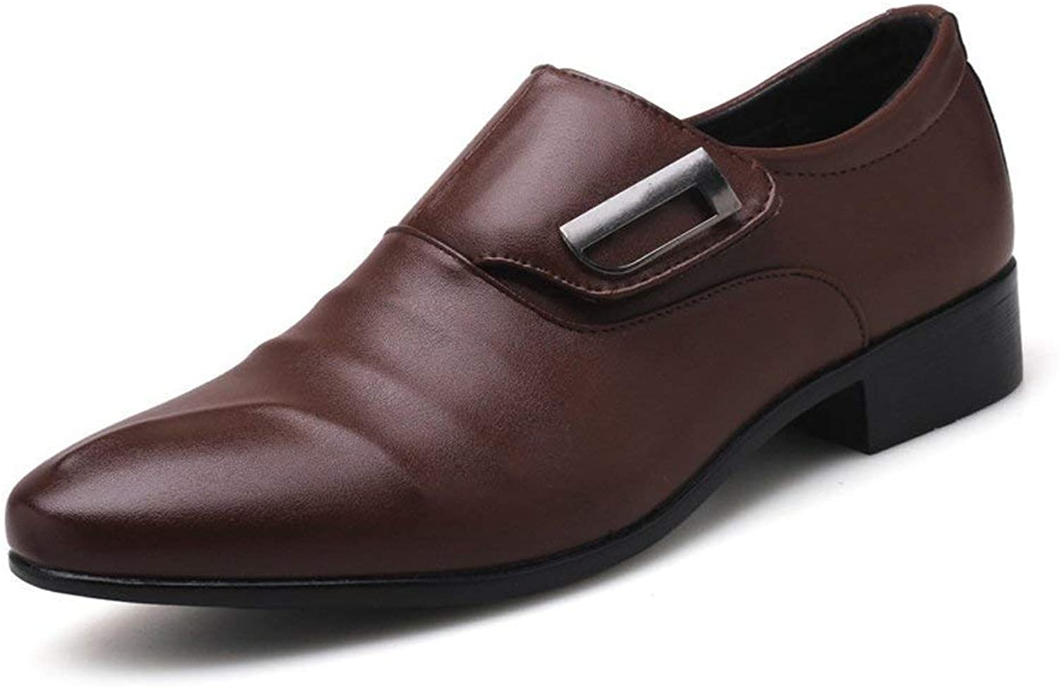 Hhgold 2018 Men's Business shoes Smooth PU Leather Upper Slip-on Breathable Low Top Oxfords (color  Brown, Size  40 EU) (color   Brown, Size   48 EU)