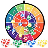 Kids Board Game, Dart Board Game Set with Fashion Pattern, 12 Hook and Loop Sticky Balls, Family Fun Best Toy...
