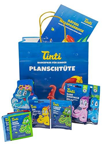 Tinti Planschtüte pflegender Badespaß 9 Produkte inkl. Spritzfigur