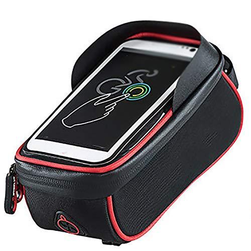 JenLn Abrazadera de teléfono Celular Manillar Ountain Bike Montar por teléfono móvil Soporte de teléfono Impermeable Pantalla táctil Bolsa de Tubo Superior de Bicicleta M Clip de teléfono Scooter