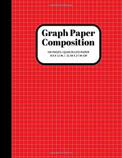 Graph Paper Composition Notebook: Grid Paper Notebook, Quad Ruled, 100 Sheets (Large, 8.5 x 11)