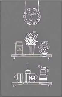 Coffee Tea Shop Restaurant Business Mural Window Decal Sticker Decor White