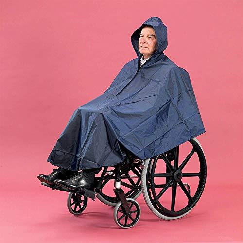 Universele rolstoel Poncho, waterdichte Poncho met capuchon, bescherming tegen regen, herbruikbaar, winddicht, bedekt armen, handen en knieën