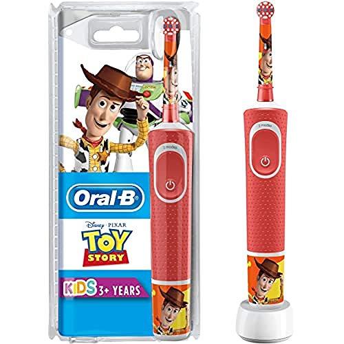 Oral-B Kids - Cepillo Eléctrico Recargable con Tecnología de Braun, 1 Mango de Toy Story de Disney Pixar, Apto para Niños Mayores de 3 Años