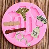 N/ A 3D Medical Hut Flasche Herz Werkzeug Silikonform Kuchen Dekorationswerkzeuge Cupcake Topper...