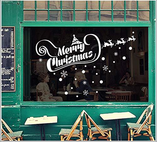 Wandaufkleber Glasaufkleber Transparente Umgebungsaufkleber Des Weihnachtsshop-Tür- Und Fensterfensterglas-Dekorativen Aufklebers Können 115 * 60Cm Entfernt Werden