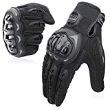 COFIT Motorcycle Gloves, Full-Finger Touchscreen Gloves for Motorcycle Racing, ATV, Climbing, Hunting, Hiking and Other Outdoor Sports - Black M