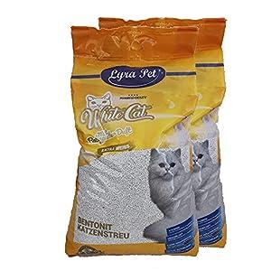 White Cat 2 x 15 L Katzenstreu klumpend mit Babypuderduft Naturprodukt staubarm 1