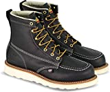 Thorogood 804-6201 Men's American Heritage 6' Moc Toe, MAXwear Wedge Safety Boot, Black - 14 D(M) US
