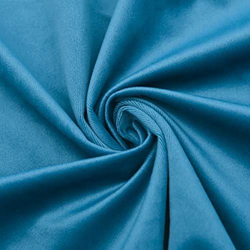 ZSYGFS 280 Cm De Ancho Tela De Terciopelo Suave para Coser De Chaquetas Decoración Decoración del Hogar Cortinas Tapicería Vestido Sillas Ropa Vendido por Metro(Color:Lago Azul)
