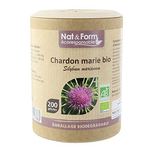 Nat & Form - Complément Alimentaire - Chardon Marie Bio - 200 Gélules