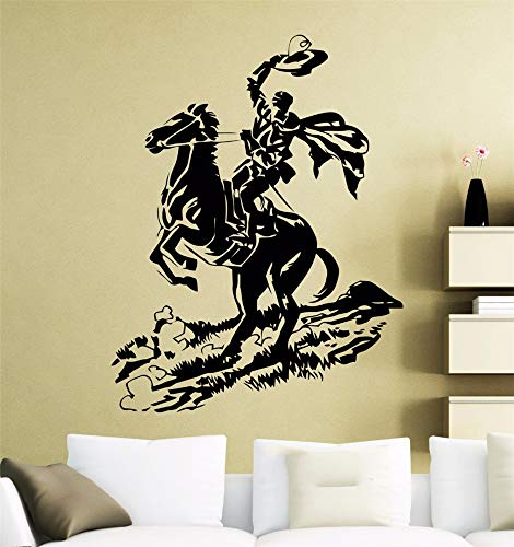 Motivationele Muursticker Citaten Zorro Poster Retro Paard Rider Decal Home Room Interieur Decoratie decor voor Woonkamer Slaapkamer 12x18 inch