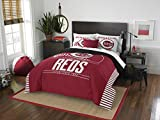 Officially Licensed MLB Cincinnati Reds Grandslam Full/Queen Comforter and 2 Sham Set