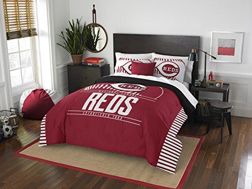 Officially Licensed MLB Cincinnati Reds Grandslam Full/Queen Comforter and 2 Sham Set