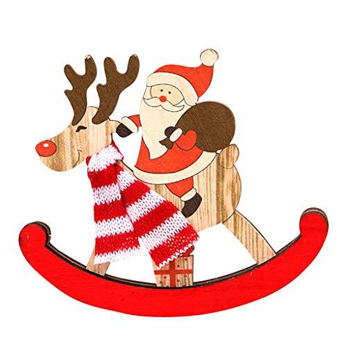 Zuhause Weihnachten Deko Kreative Wanduhr Weihnachts Geschenke Retro Hang Uhr Weihnachtsmann Schneemann Wohnzimmer Schlafzimmer Kinderzimmer Kindergarten Deko Weihnachtsschmuck (rot)