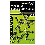 Matrix Angeln Karabiner - X-Strong Feeder Snap Links Size 10 10 Stück