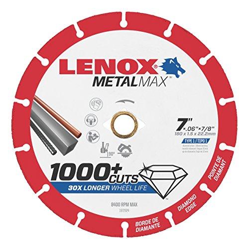 LENOX Tools METALMAX Cut Off Wheel, Diamond Edge, 7-Inch x 7/8-Inch (1972924)