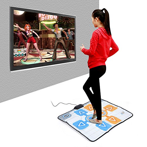 Yunir Alfombrilla de Baile, Almohadilla de Baile Antideslizante de Espuma de Doble Persona de 90 * 82 cm para el Juego de Consola Nintendo Wii, Suave, Duradero, cómodo, Plug and Play