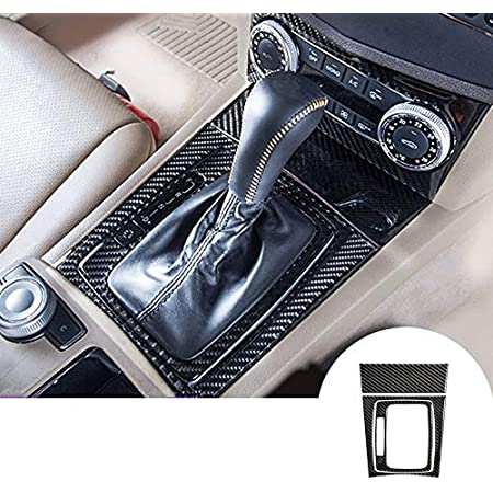 hors Kit Carbon Fiber Center Console Dashboard Gear Box Panel Water Cup Holder Frame Decal Cover Trim for Mercedes Benz C Class C180 C200 C220 C250 W204 2007-2014