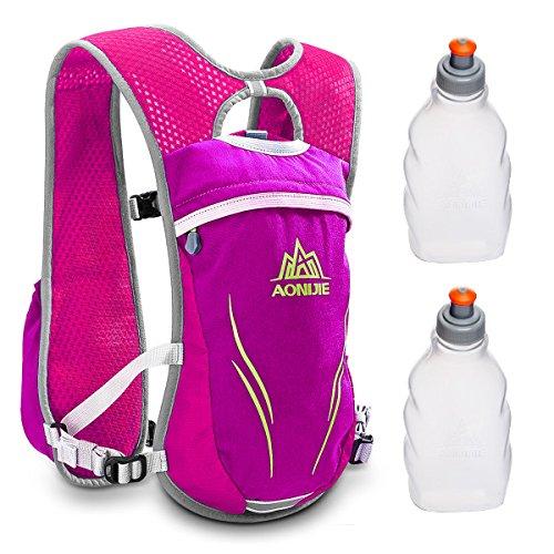Geila Zaino per l'idratazione,Gilet idratazione Gara di maratona sportiva all'aperto Zaino leggero con 2 bottiglie d'acqua