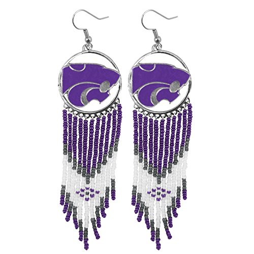Littlearth NCAA Kansas State Wildcats Dreamcatcher Earring