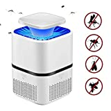 Lampe Anti Moustique, Moustique Tueur Lampe, Mosquito Zapper Killer, USB Powered Suction Type Electric Bug Zapper, No Radiation, Nontoxic, No Noise, Indoor Home Bedroom Use - Blanc