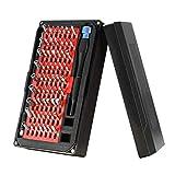 LONGWDS Destornillador 76 en 1 Set de destornilladores de precisión, herramientas de reparación de profesiones magnéticas multifuncionales con 63 bits Driver para computadoras portátiles, teléfonos, c