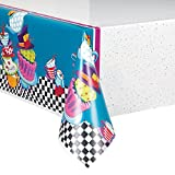 Mad Hatter Tea Party Plastic Tablecloth, 84' x 54'