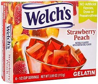 New 373703 Welchs Gelatin Straw Peach 3.99 Oz (-Pack) Snacks Cheap Wholesale Discount Bulk Snacks Snacks Pretend Play