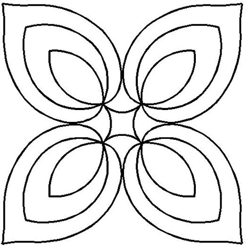 Quilting Creations Hosta Medallion Stencil, 7