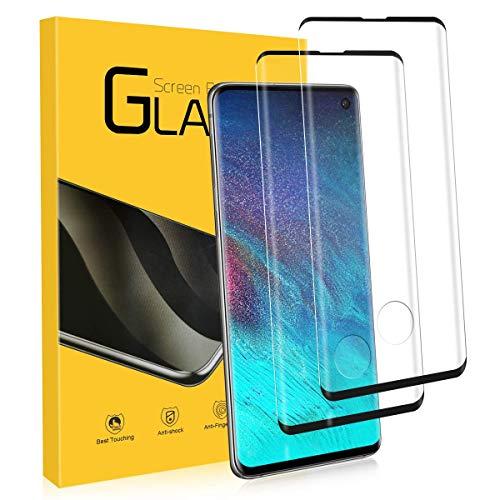NONZERS Vetro Temperato per Samsung Galaxy S10, [2 Pezzi] 3D /9H Durezza Curvo Copertura Completa Pellicola Vetro, [Protezione Completa][Senza...