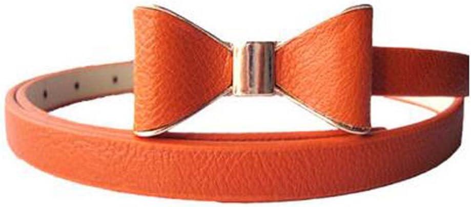 Koala Superstore Children Belt Bow-Knot Skirt Belt Artificial Leather Decorative Belt, Orange