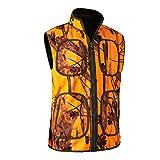 Deerhunter Gamekeeper - Chaleco de Forro Polar Reversible, Color Naranja, Color Verde, tamaño XXXL