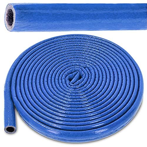 PE-Rohrisolierung Isolierschlauch 10 m Rolle x Ø 22 mm / 4 mm Isolierstärke Blau | Schutzschlauch Heizungsrohr Isolierung mit Schutzhaut | Rohr Dämmung Schlauch Rohrdämmung Warmwasserleitung Heizung