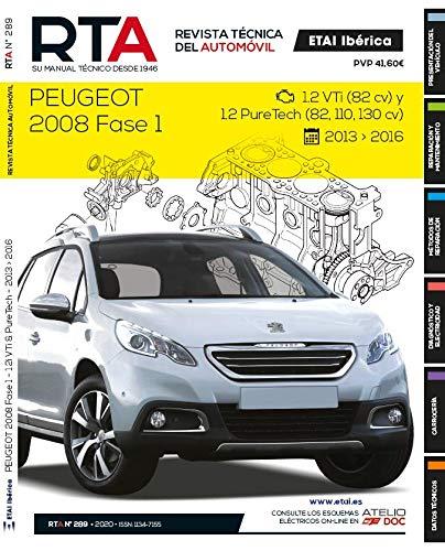 Documentación técnica RTA 289 PEUGEOT 2008 I FASE 1 (2013 -2017)