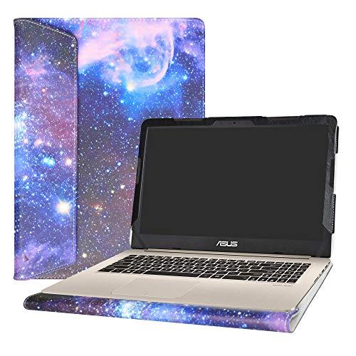 """Alapmk Diseñado Especialmente La Funda Protectora de Cuero de PU para 15.6"""" ASUS VivoBook Pro 15 N580VD M580VD N580VN Series Ordenador portátil (No Compatible con: ASUS ZenBook Pro 15 UX580GE),Galaxy"""